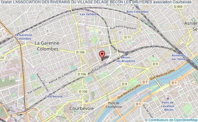 plan association L'association Des Riverains Du Village Delage Becon Les Bruyeres Courbevoie