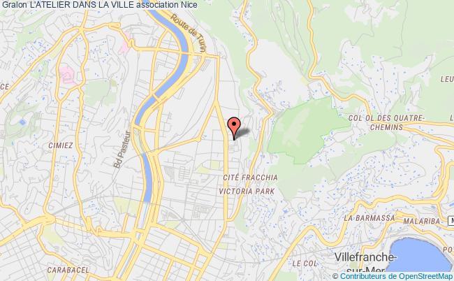 plan association L'atelier Dans La Ville Nice