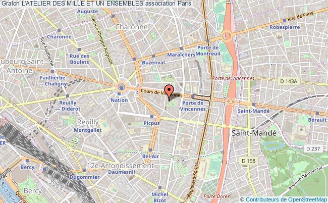 plan association L'atelier Des Mille Et Un Ensembles Paris