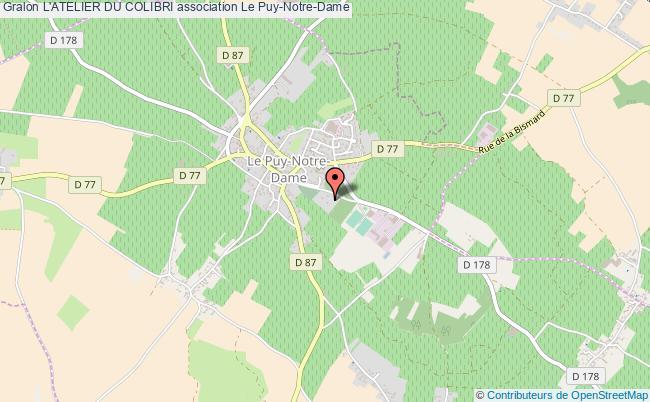 plan association L'atelier Du Colibri Le Puy-Notre-Dame