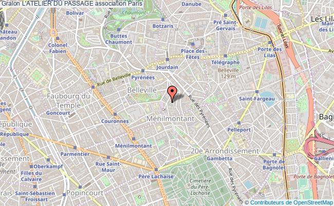 plan association L'atelier Du Passage Paris