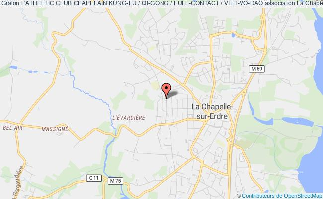 plan association L'athletic Club Chapelain Kung-fu / Qi-gong / Full-contact / Viet-vo-dao