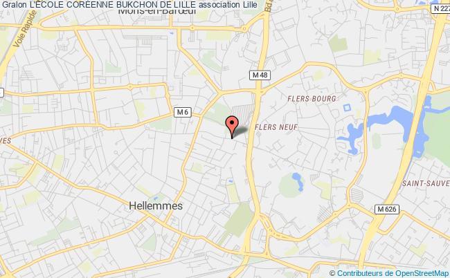 plan association L'École CorÉenne Bukchon De Lille