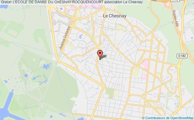 plan association L'ecole De Danse Du Chesnay Le    Chesnay