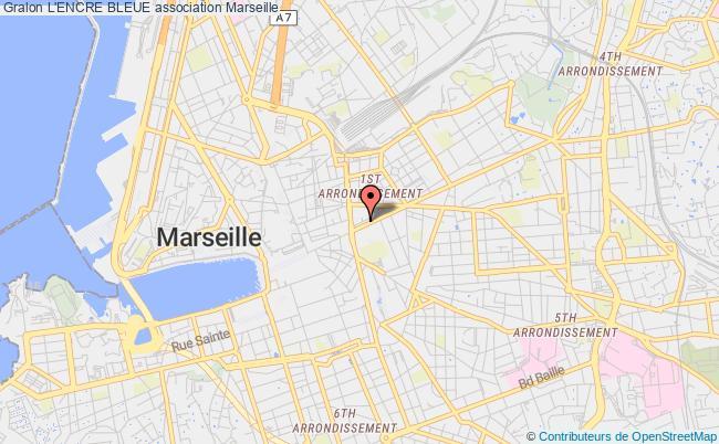 plan association L'encre Bleue Marseille