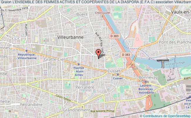 plan association L'ensemble Des Femmes Actives Et CoopÉrantes De La Diaspora (e.f.a.c)