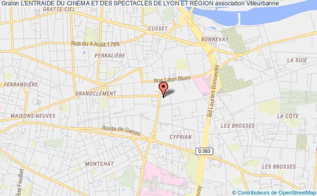 plan association L'entraide Du CinÉma Et Des Spectacles De Lyon Et RÉgion