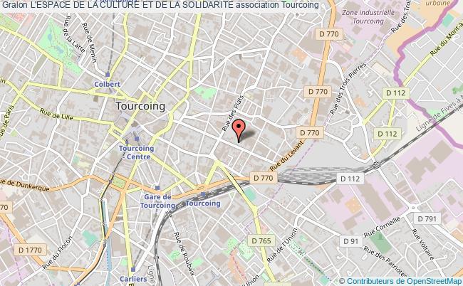 plan association L'espace De La Culture Et De La Solidarite Tourcoing