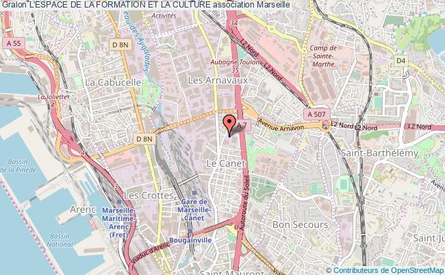 plan association L'espace De La Formation Et La Culture Marseille