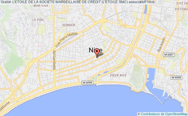 plan association L'etoile De La Societe Marseillaise De Credit (l'etoile Smc) Nice