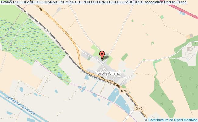 plan association L'highland Des Marais Picards Le Poilu Cornu D'ches Bassures Port-le-Grand