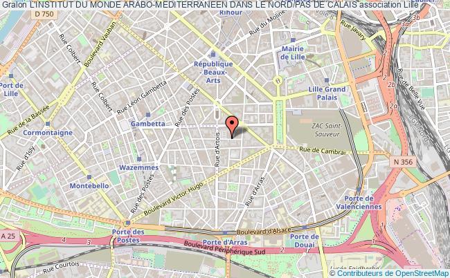 plan association L'institut Du Monde Arabo-mediterraneen Dans Le Nord/pas De Calais