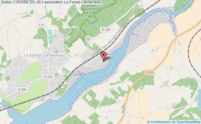 plan association L'iroise Du Jeu La Forest-Landerneau