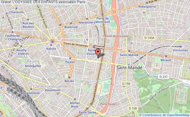 plan association L'odyssee Des Enfants Paris