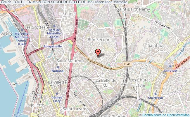 plan association L'outil En Main Bon Secours Belle De Mai Marseille