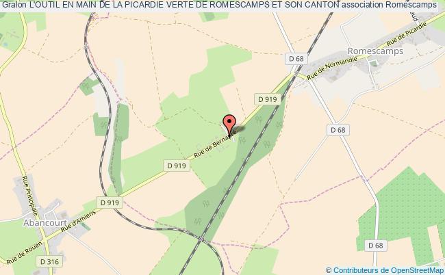 plan association L'outil En Main De La Picardie Verte De Romescamps Et Son Canton