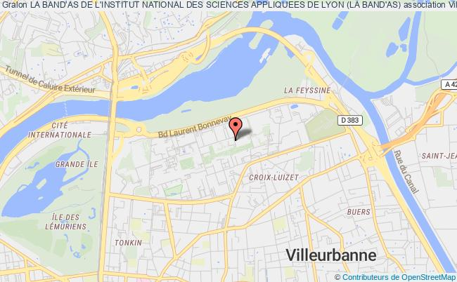 plan association La Band'as De L'institut National Des Sciences Appliquees De Lyon (la Band'as)