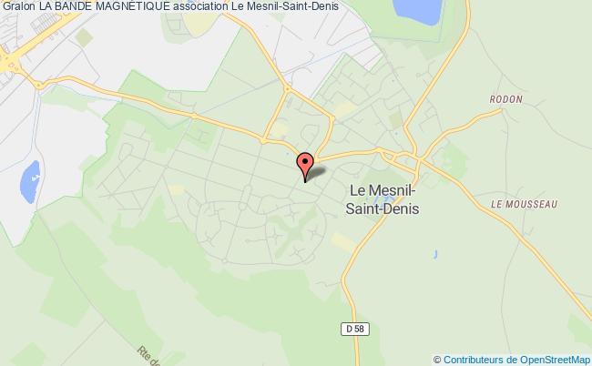 plan association La Bande MagnÉtique Mesnil-Saint-Denis