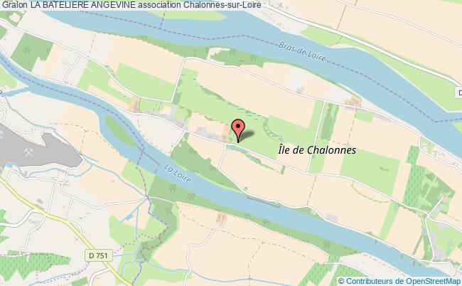 plan association La Bateliere Angevine Chalonnes-sur-Loire