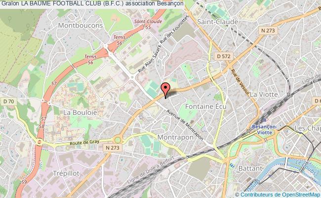 plan association La Baume Football Club (b.f.c.)