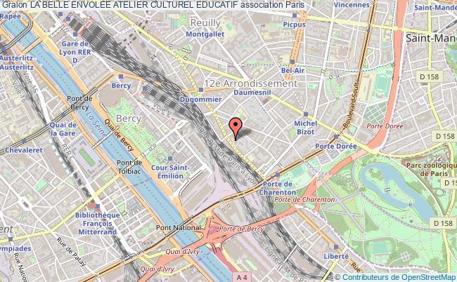 plan association La Belle Envolee Atelier Culturel Educatif Paris