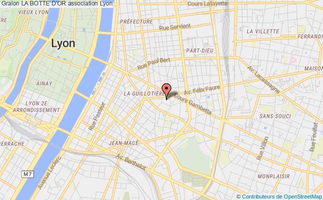 plan association La Botte D'or Lyon