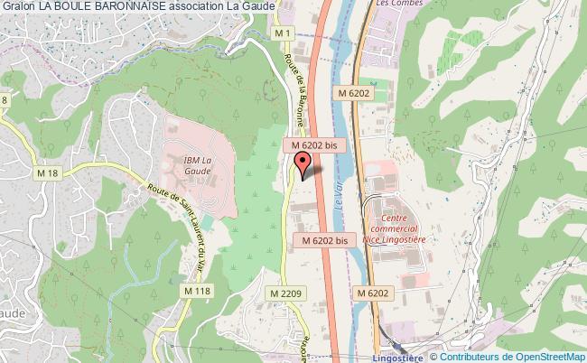 plan association La Boule Baronnaise