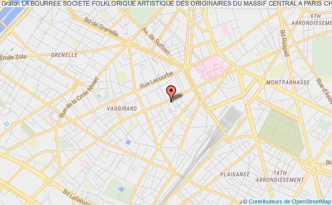 plan association La Bourree Societe Folklorique Artistique Des Originaires Du Massif Central A Paris Chants Et Danses Populaires Du Massif Central Paris 15e