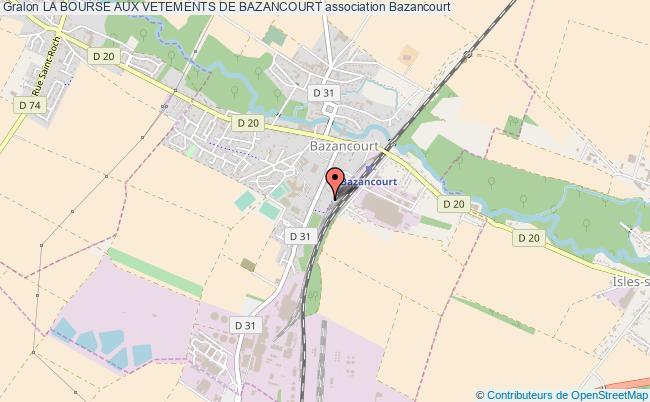plan association La Bourse Aux Vetements De Bazancourt