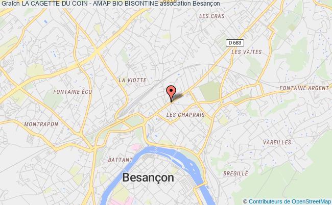 plan association La Cagette Du Coin - Amap Bio Bisontine