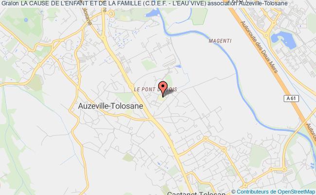 plan association La Cause De L'enfant Et De La Famille (c.d.e.f. - L'eau Vive) Auzeville-Tolosane