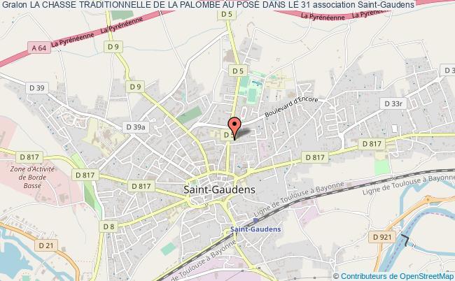plan association La Chasse Traditionnelle De La Palombe Au PosÉ Dans Le 31 Saint-Gaudens