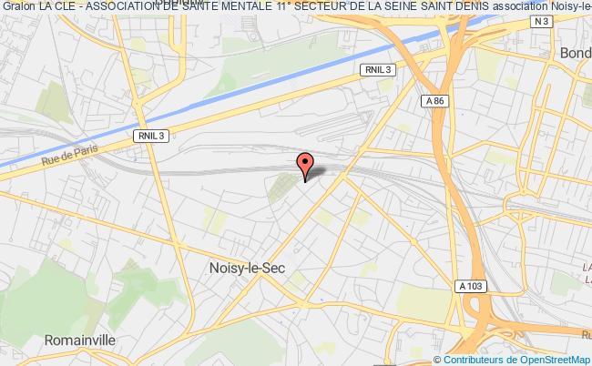 plan association La Cle - Association De Sante Mentale 11° Secteur De La Seine Saint Denis