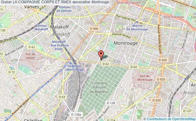 plan association La Compagnie Corps Et Âmes Montrouge