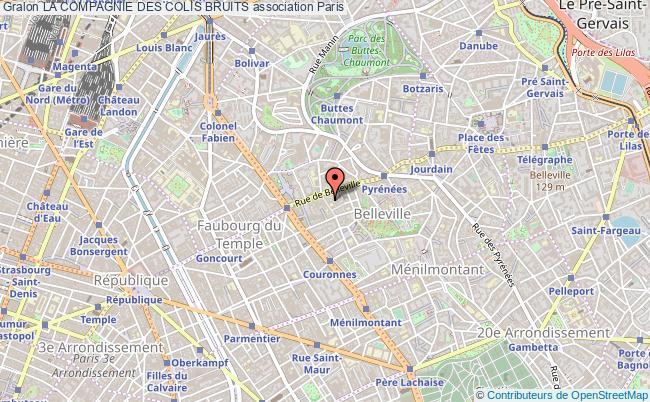plan association La Compagnie Des Colis Bruits