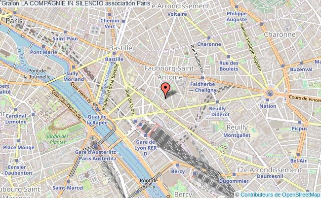 plan association La Compagnie In Silencio Paris 12e