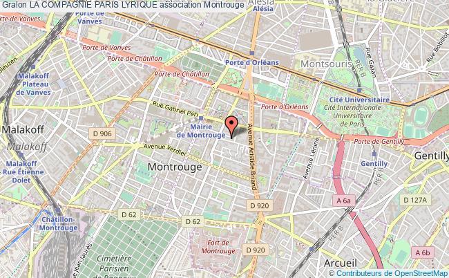 plan association La Compagnie Paris Lyrique Montrouge