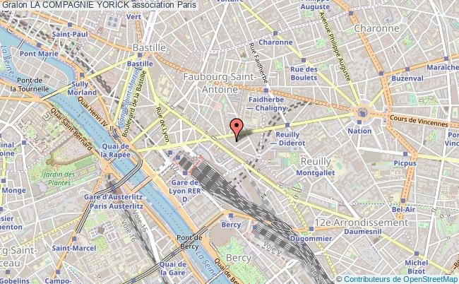 plan association La Compagnie Yorick Paris