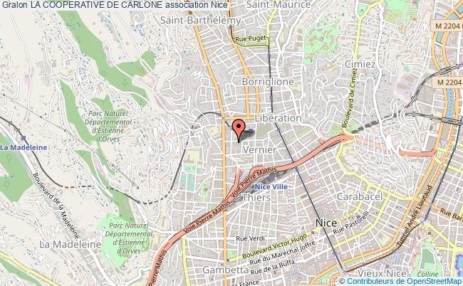 plan association La Cooperative De Carlone Nice