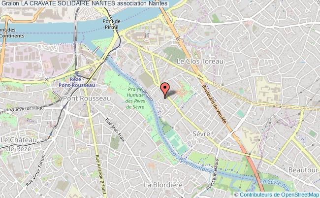 plan association La Cravate Solidaire Nantes