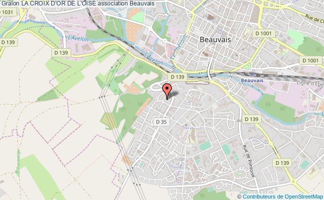plan association La Croix D'or De L'oise Beauvais