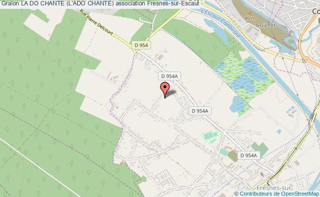 plan association La Do Chante (l'ado Chante) Fresnes-sur-Escaut