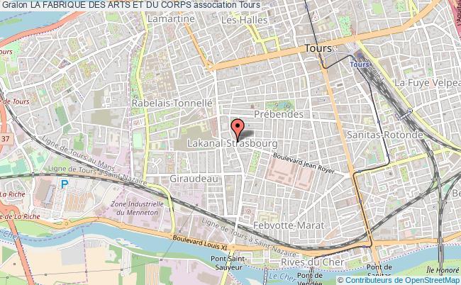 plan association La Fabrique Des Arts Et Du Corps Tours
