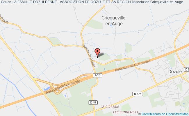 plan association La Famille Dozuleenne - Association De Dozule Et Sa Region Cricqueville-en-Auge