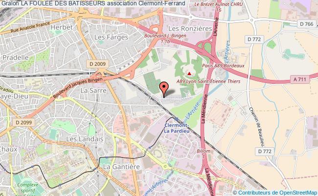 plan association La Foulee Des Batisseurs