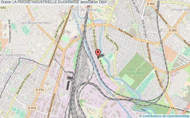 plan association La Friche Industrielle Dijonnaise