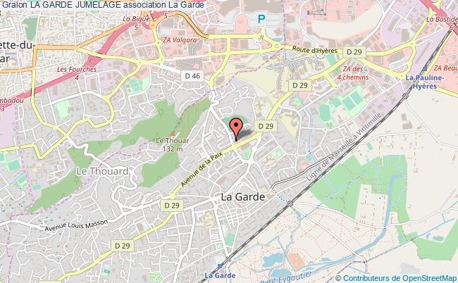 plan association La Garde Jumelage