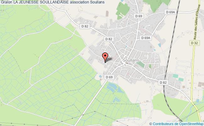 plan association La Jeunesse Soullandaise Soullans