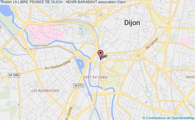 plan association La Libre Pensee De Dijon - Henri Barabant