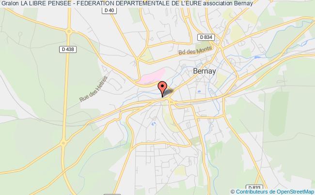 plan association La Libre Pensee - Federation Departementale De L'eure